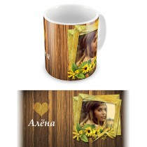 Портрет красавицы. Чашка для влюбленных, на 8-е марта, ко Дню Святого Валентина #3