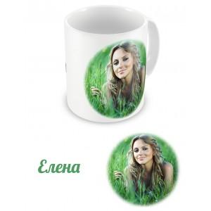 Чашка с именем и фотографией