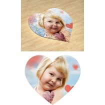 Простий. Фотопазл в формі серця #1