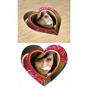 Цветущий. Фотопазл в форме сердца #5