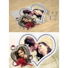 Два сердца. Фотопазл Любовь, День Святого Валентина #2