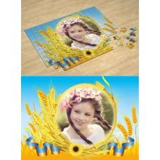 Золотые колосья. Фотопазл Национальная символика Украины #3