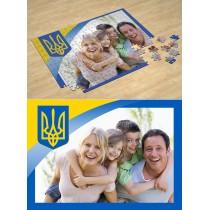 Тризуб. Фотопазл Национальная символика Украины #4