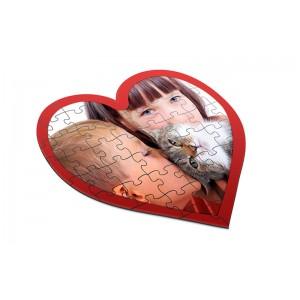 Пазлы в форме сердца