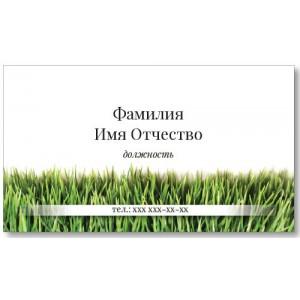 Візитки 100 шт флориста, озеленювача - Трава