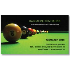 Визитки 100 шт спортсмена, тренера – Бильярдные шары вариант-2